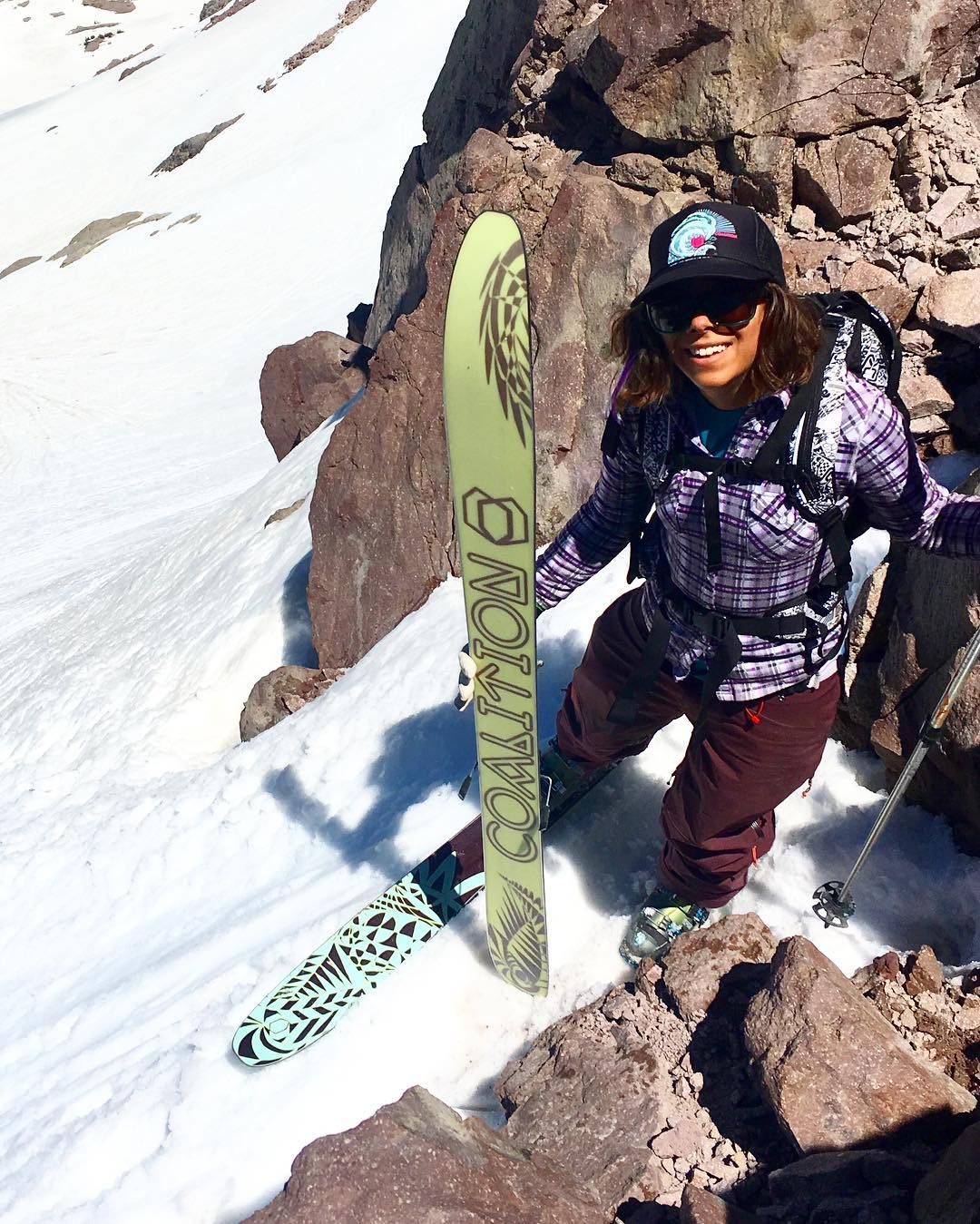 COO @nosnowsnakes won't give it up! A pack of die hards sent it to Lassen for some spr...summer turns! * * * And how about those fresh, #usa made touring skis! One of our newbies, the La Nieve! * * * #sisterhoodofshred #lanieve #chooseadventure #skiing...