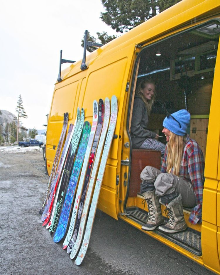 Good thing our friend @hutchski has a big enough rig for all the skis; we don't have to choose!