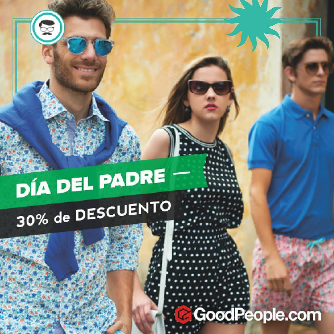 ¡Se viene el Día del Padre y con él los descuentos de @goodpeoplearg! ⚠ Entrando al link http://bit.ly/1qig5lC, comprale a papá hasta con un 30% DE DESCUENTO