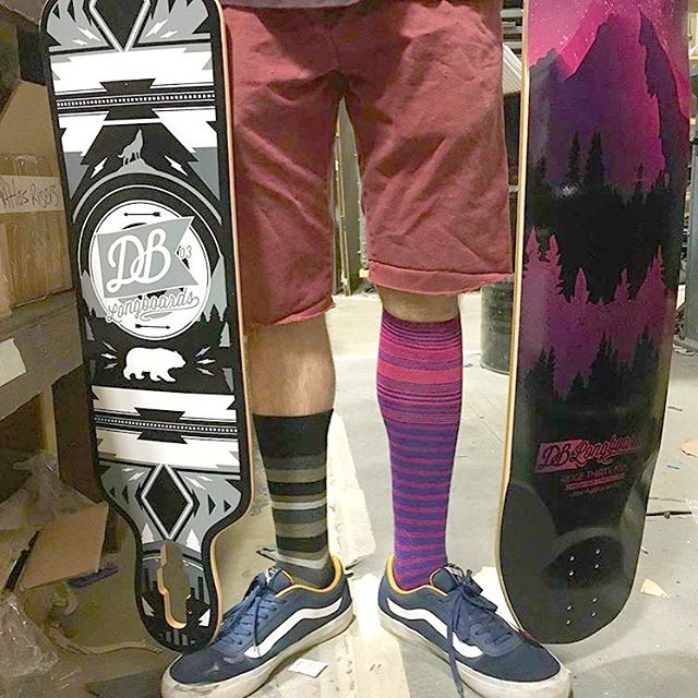 Carlos (@caocopz), one of our board technician at the shop, was mismatching and matching at the same time yesterday with the Urban Native and the Keystone Ridge.  #dblongboards #shoplife #dbkeystone #longboards #longboard #pnw #tacoma #longboarding...