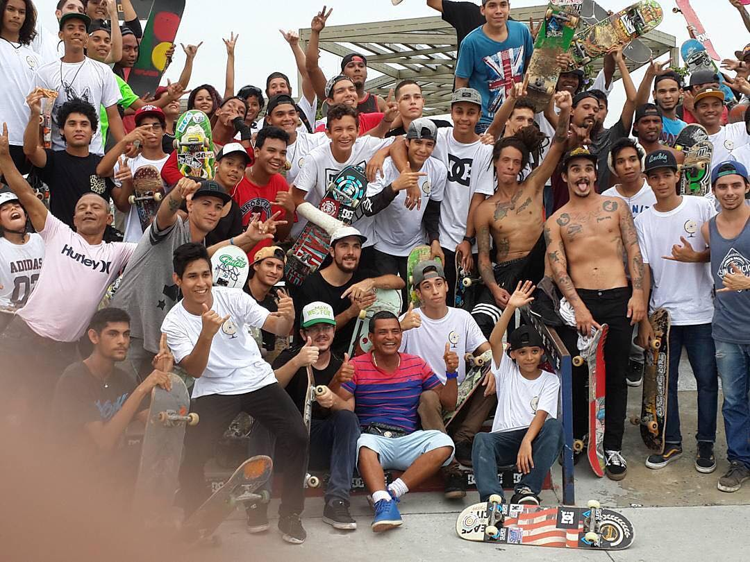 Skateboarders of Panama came out in force today at the #DCGlobalSkateJam! Thanks for rolling out! Photo: @skaterojo #DCShoes