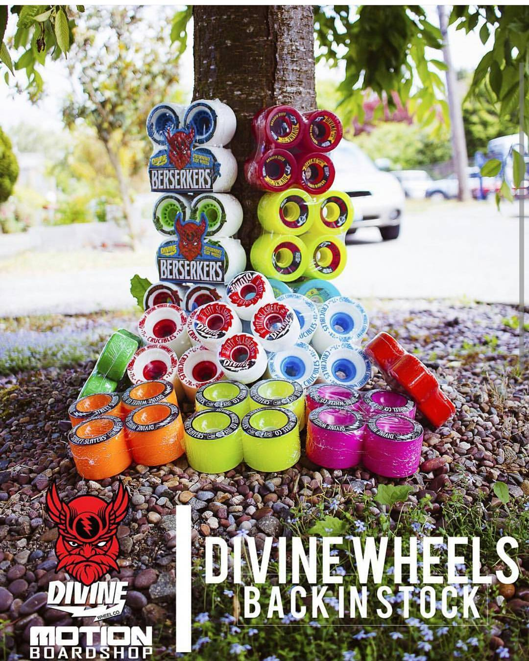 @motionboardshop are now fully stocked with #divinewheels! Get yours