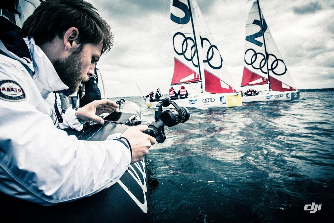 The #DJI Osmo Pro shows us what it's like to be a sailor at the Kieler Woche regatta #KiWo2016