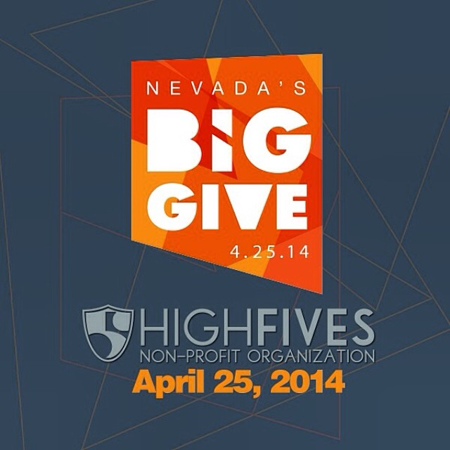 The Nevada's Big Give event is FRIDAY! Help spread the word for the @hi5sfoundation for one 24-hour period of giving on April 25