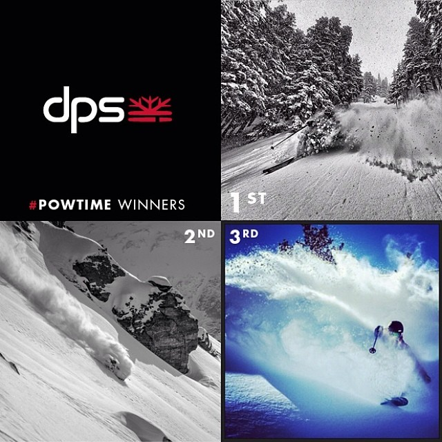 Thank you to all who participated in the #dpsskis #powtime Instagram contest! After heavy deliberation the crew decided that @alex_zankl took home the win and the DPS Quiver Bag. We also have awarded a second and third place due to the high submissions...