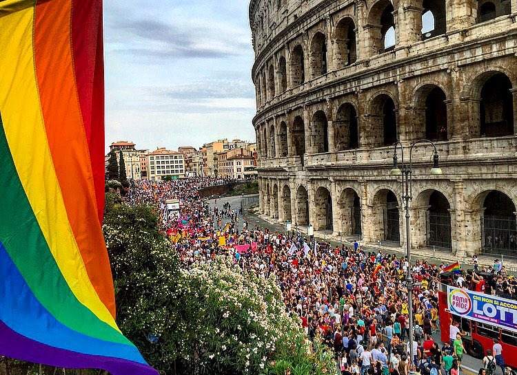 Thinking of #orlando today from #romapride