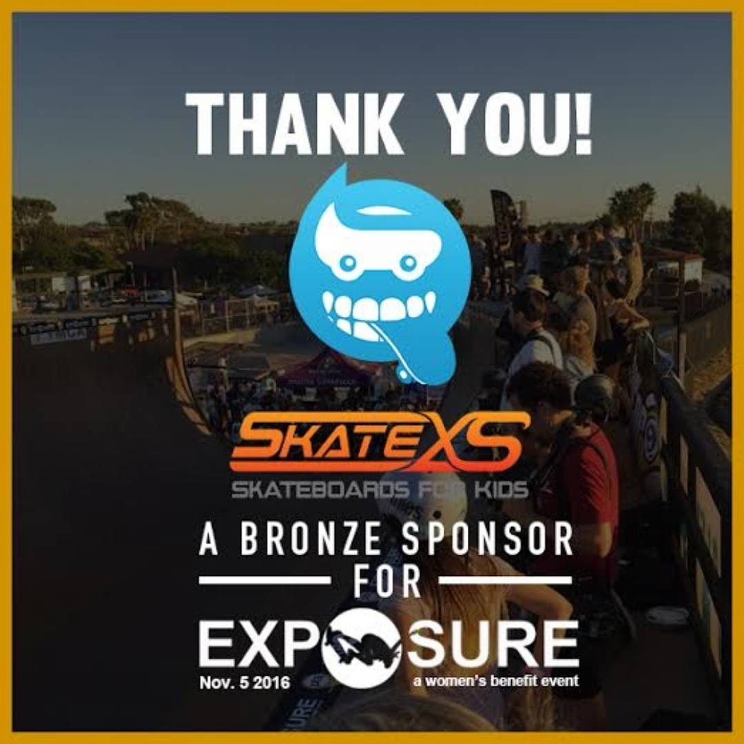 "Thank You @skatexs ! A returning Bronze Sponsor for Exposure 2016!  @skatexs offers ""high-quality correctly sized smaller skateboards and accessories specifically made for kids."" Check out their bio and follow the link!"