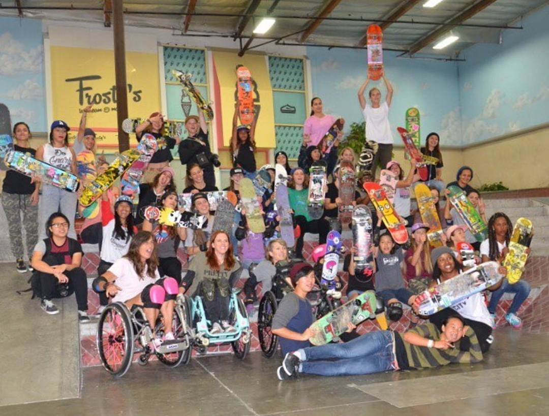 @girlsskatela session at @berrics ! Photo by @girlsskatenetwork