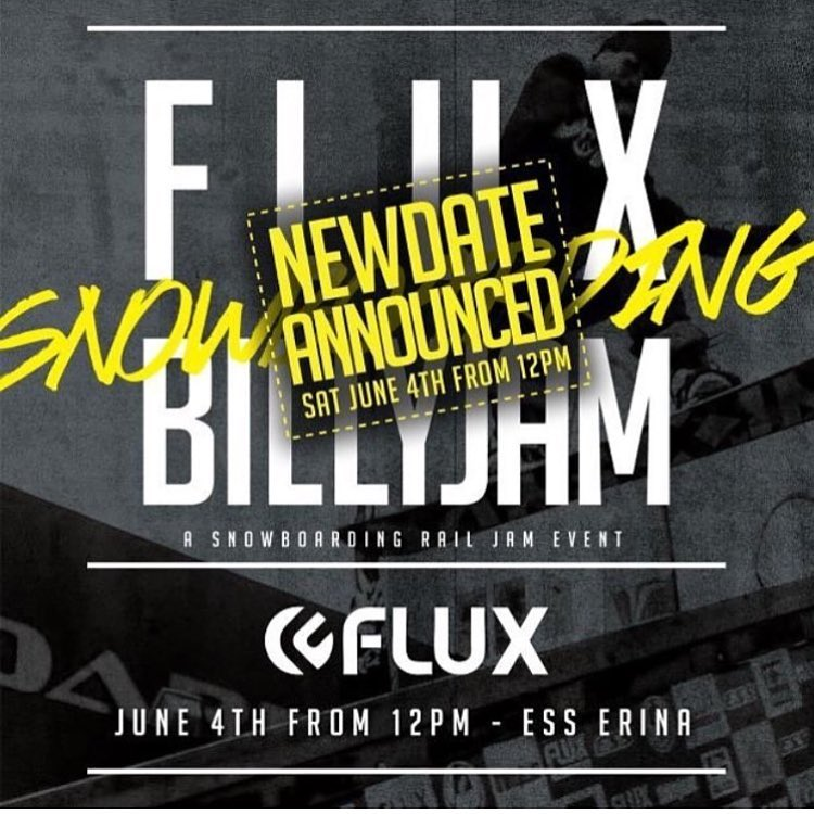 June 4th – Lock it in people FLUX BILLY JAM – COME HAVE SOME FUN! We're Stoked to Announce we have a NEW DATE for the 2016 FLUX BILLY JAM We'll have Food Stalls and Tonnes of giveaways throughout the afternoon. Our MEGA-RAIL won't be built due to time...