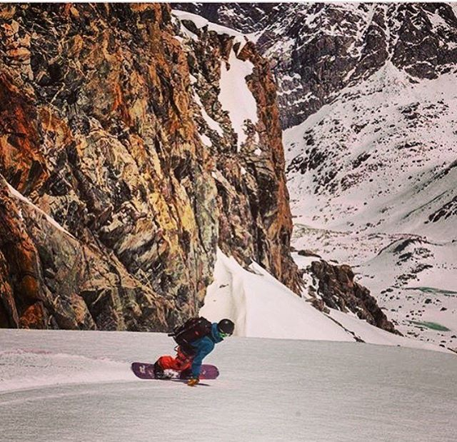 Flylow Snowboarder @hbombtheoriginal taking advantage of some perfect corn deep in the Wind River Range of Wyoming. PC: @jxnfigs  #embracethestorm | #flylowgear