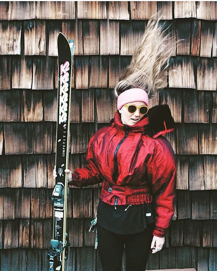 Should we bring this style back ladies?  Here is @flylowgear designer @winterdubs looking for inspiration or just getting ready for gaper day.  PC: @still.smiling_  #embracethestorm | #flylowgear
