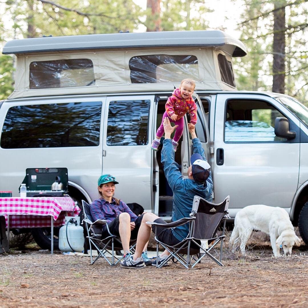 In preparation for Father's Day we are now offering free shipping on all orders (in the lower 48). Check out @flylowdan 's camping rig and Nora flying in the air.  #embracethedirt | #flylowgear  PC: @courtleve