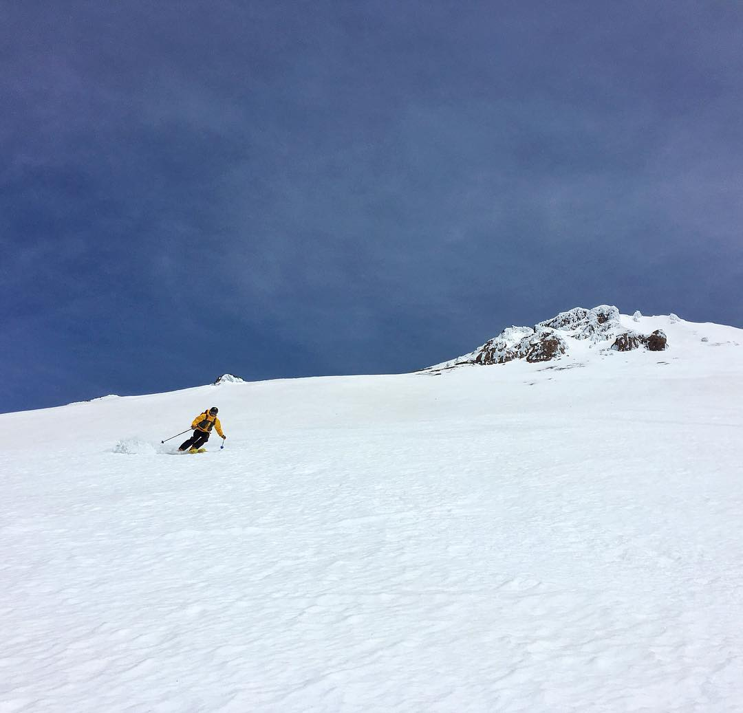 Success!  Submitted Mt Shasta and scored 5k feet of perfect corn on the West Face.  Thanks to @bcolective for the photo and the guiding!  #embracethestorm | #flylowgear