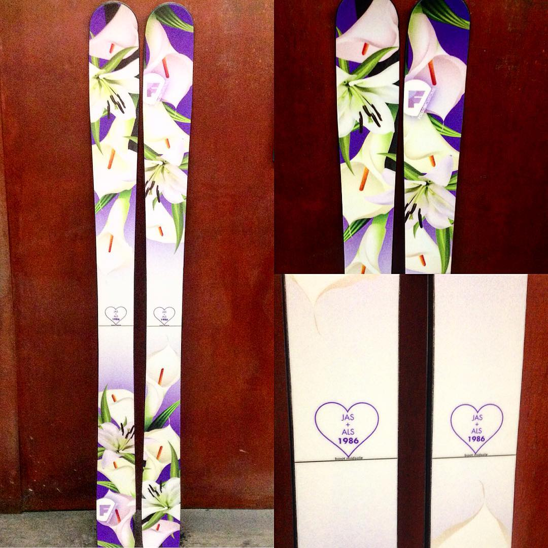 Possibly the best #aniversary gift you can give to your #sweetheart #madeintheusa #customskis
