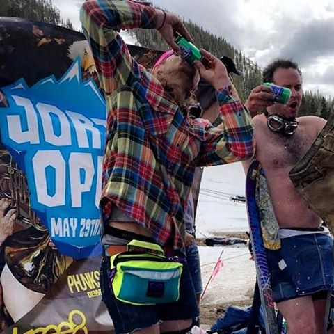 Folsom skis DOMINATED the podium at the #jortsopen2016 @arapahoe_basin over the weekend! @ronmahogandy with best crash, @grantsavidge with best trick, and Ryan took gold in the #chinesedownhill on the #trntek