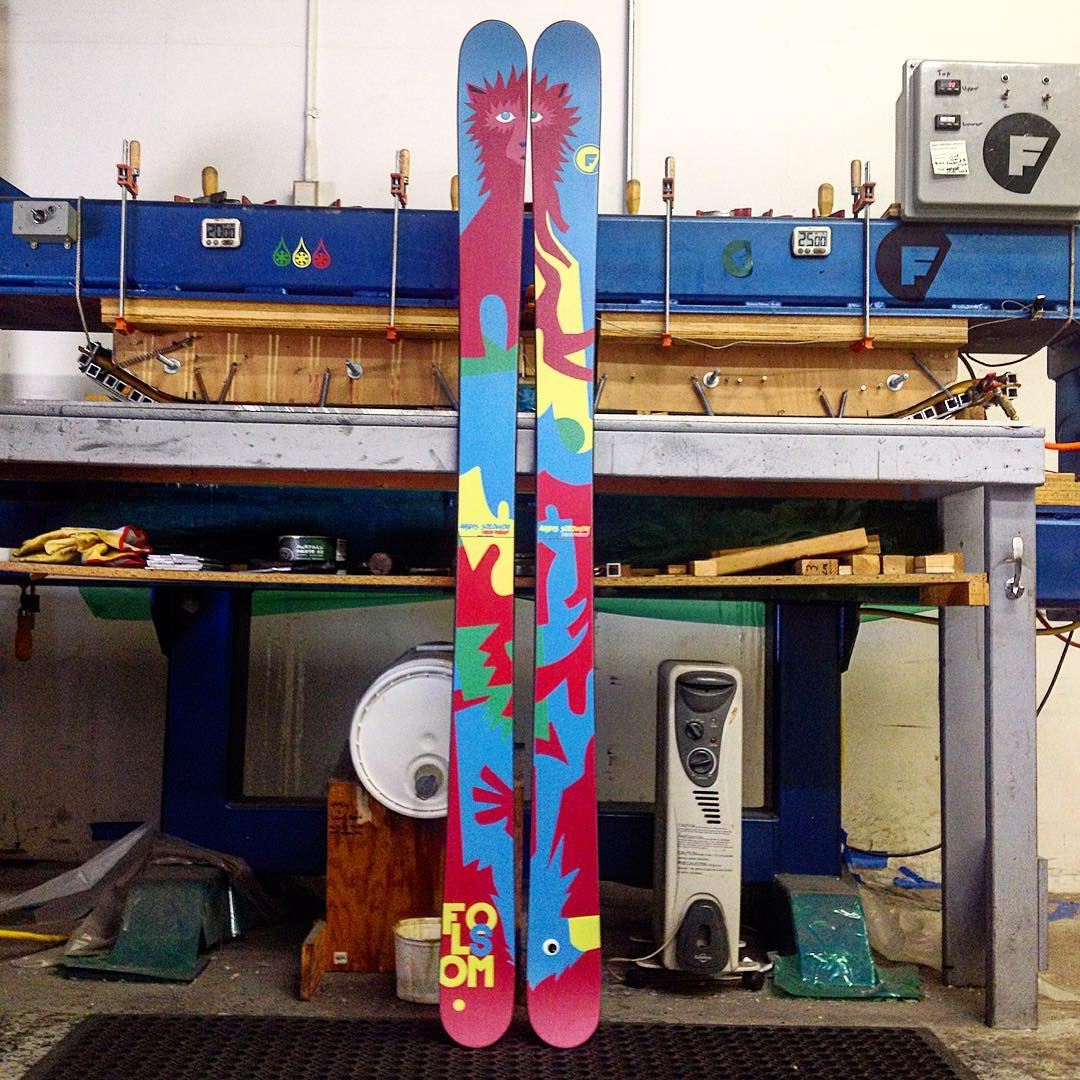 A fully #custom pair of 188cm Primary's for @andi____g #madeintheUSA #customart #wcw