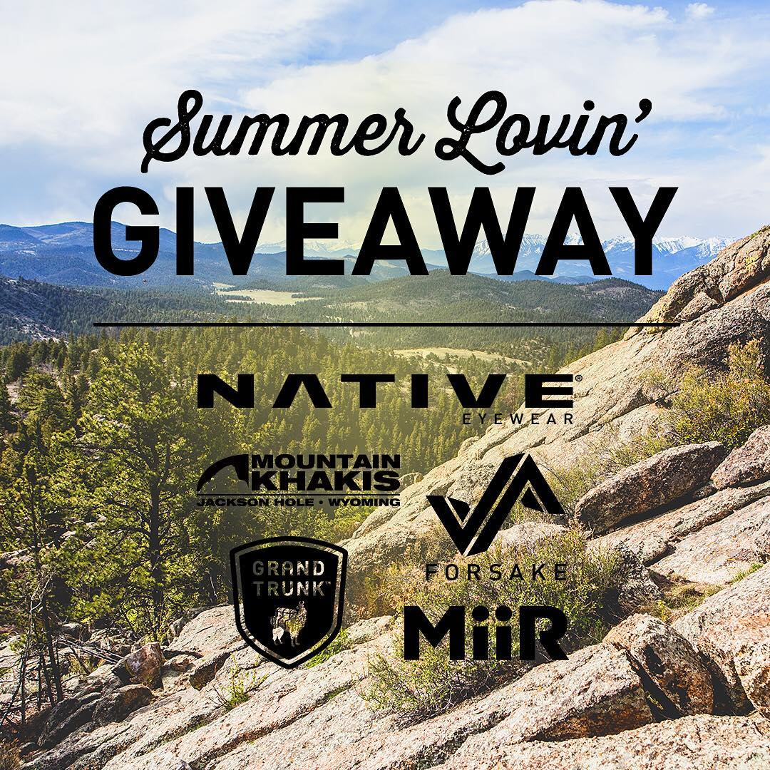 Summer is officially in full swing! In celebration of summer solstice, we've partnered with some great outdoor brands to give you some summer lovin' with a chance to win some awesome gear for your next adventure.  To Enter: 1. Follow us. 2. Like this...