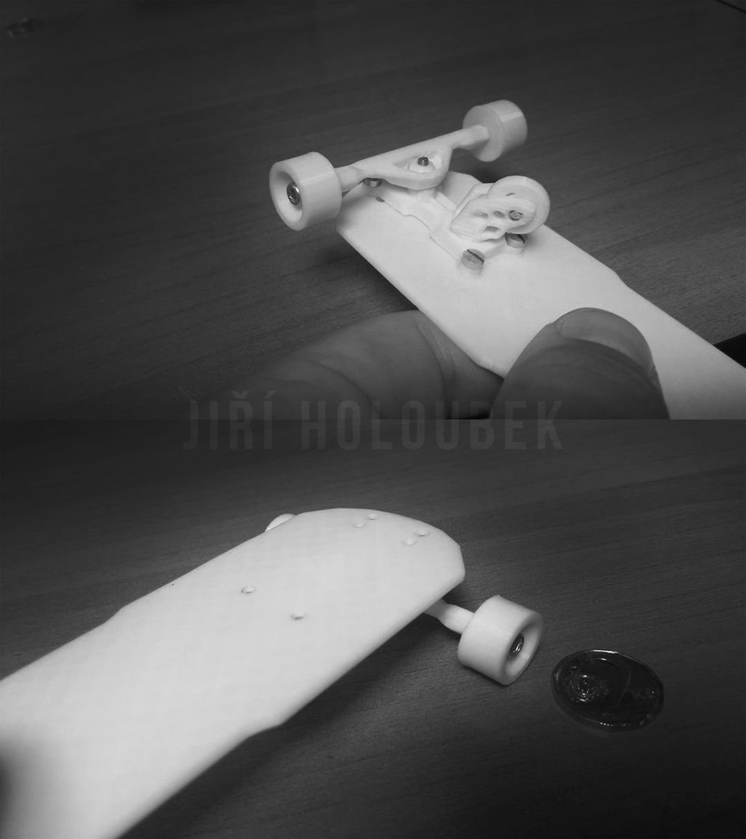 Custom Finger Freebord made by Jiří Holoubek Practice your overslides safely on the comfort of your own desk. #Freebord #SnowboardTheDesks