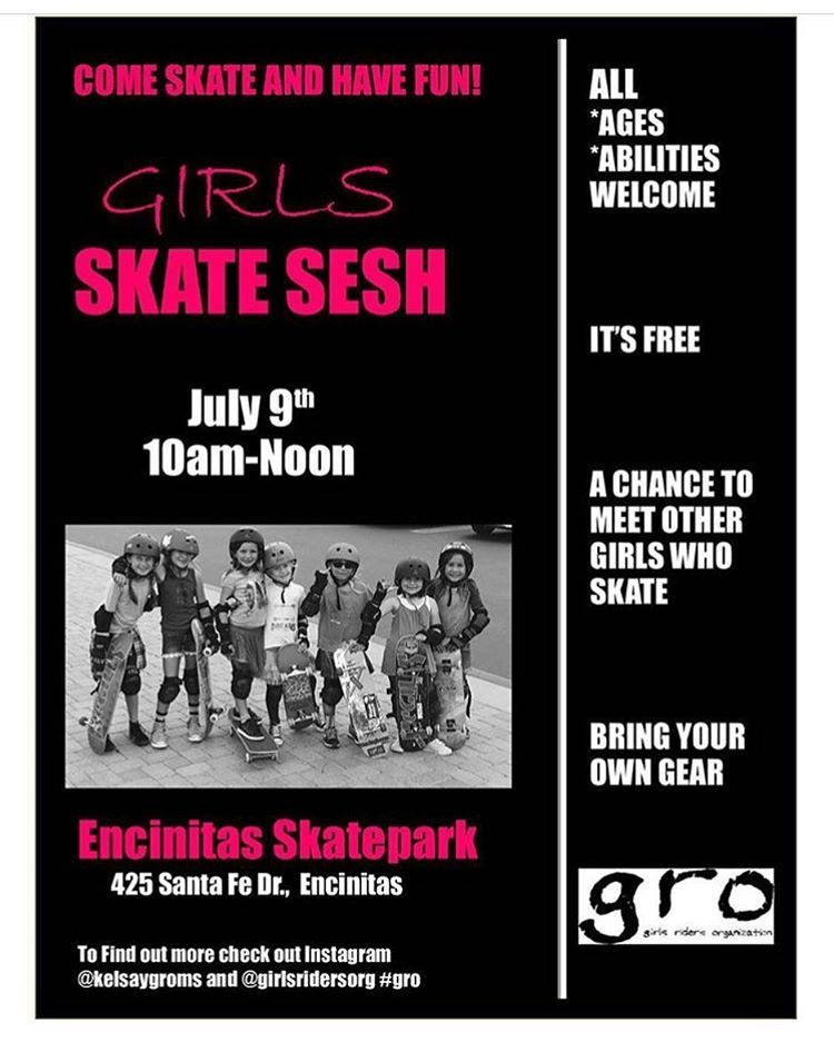 SAVE THE DATE AND COME SKATE WITH US!!! Our first session at Encinitas skatepark is only a few weeks away! Come join us! Everyone is welcome! #skatefriends #girl #girlsthatskate #skatergirl #encinitas #cardiff #leucadia #event #fun #skate...