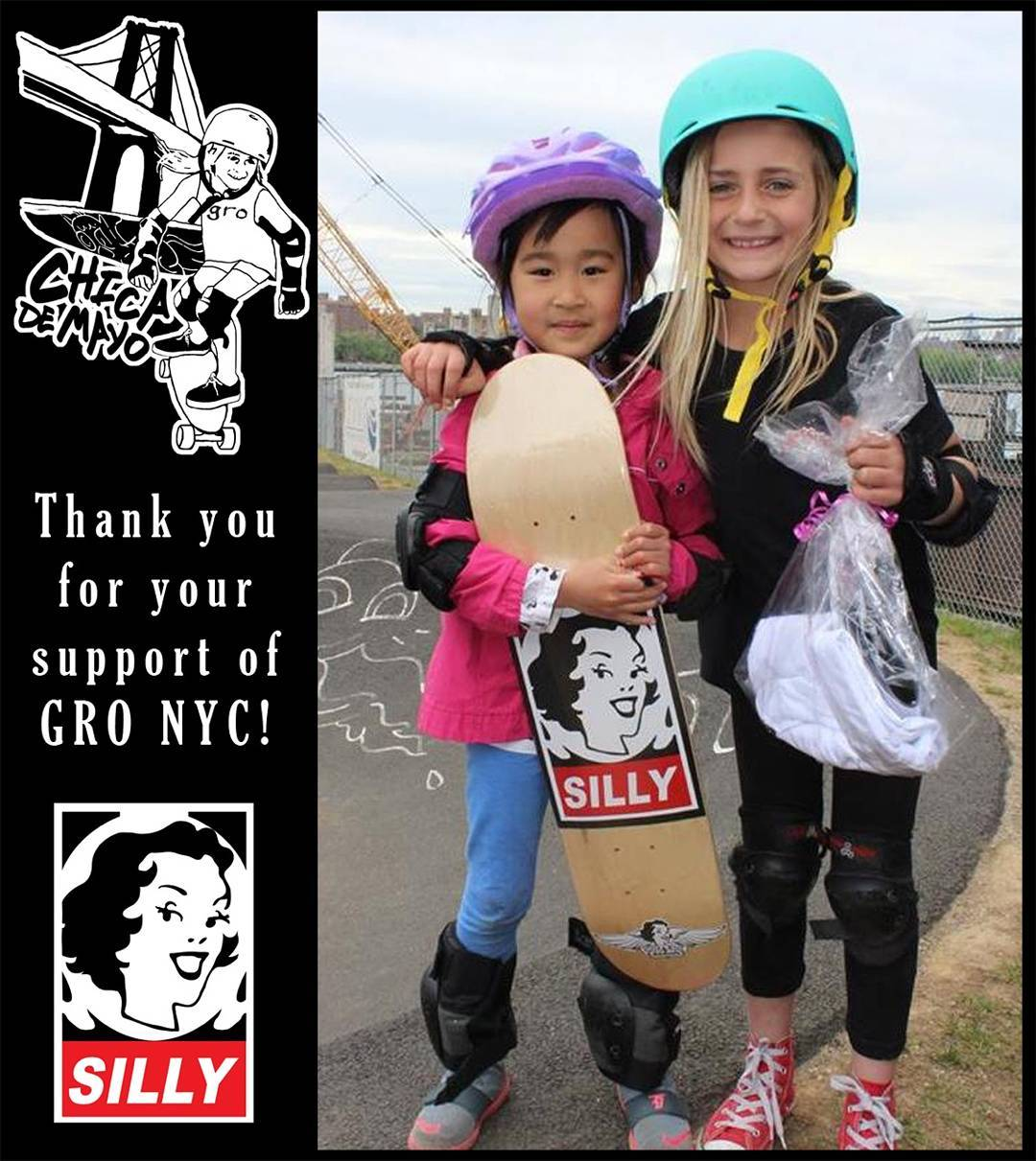 Thank you @sillygirlskateboards for your support!!! #thankyouskateboarding #ridetrue #youcanGROwithus #youCANshredwithus #girlsridersorg
