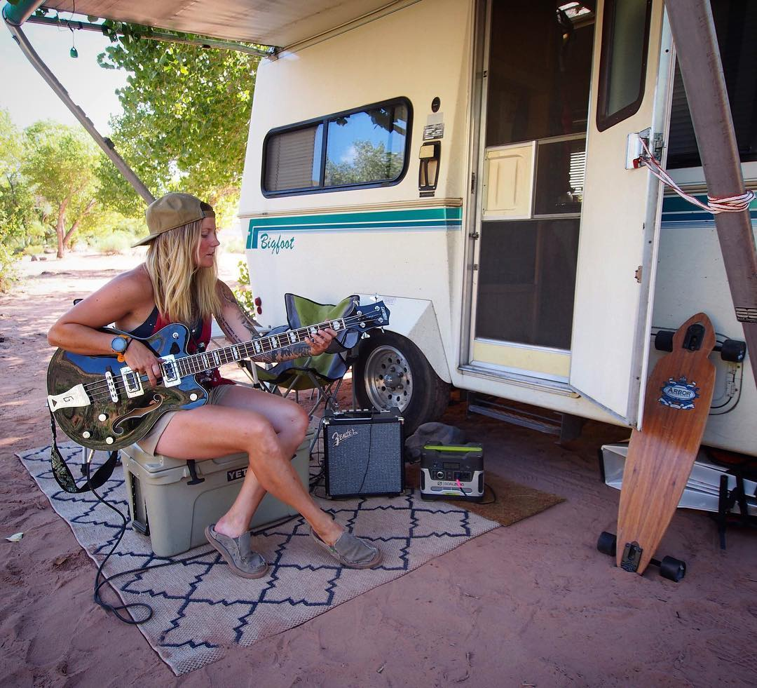 """After traveling for the last two months, it feels amazing to be settled in to my temporary spot. Thanks to this desert heat and sunshine, I've been able to run completely on solar - everything from my laptop and lights, to bass amp and much needed..."