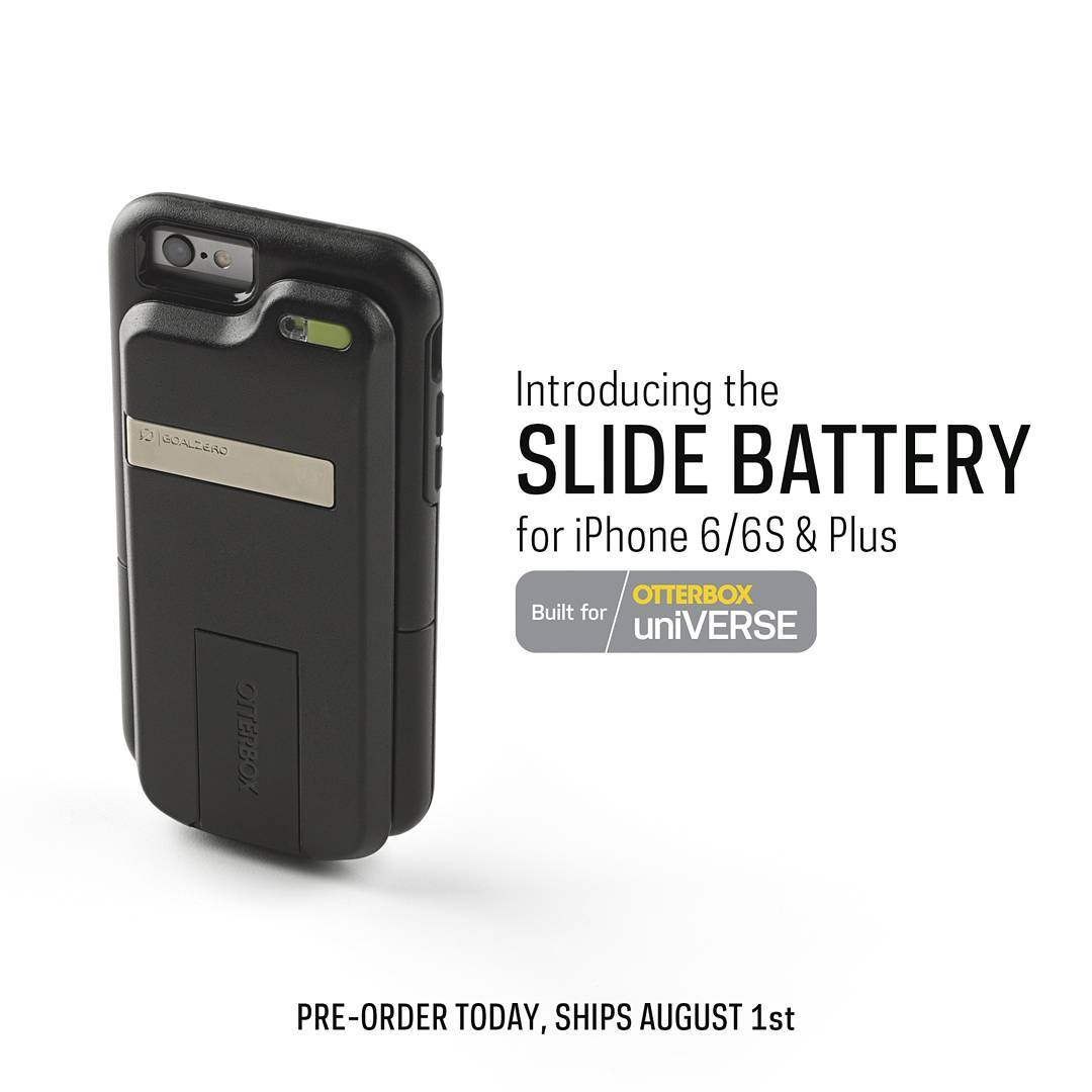 Built exclusively for @otterbox uniVERSE case, the rechargeable Slide Battery easily slips into place behind your phone case and provides power to go all day, all night.  Follow the link in our profile to pre-order yours.