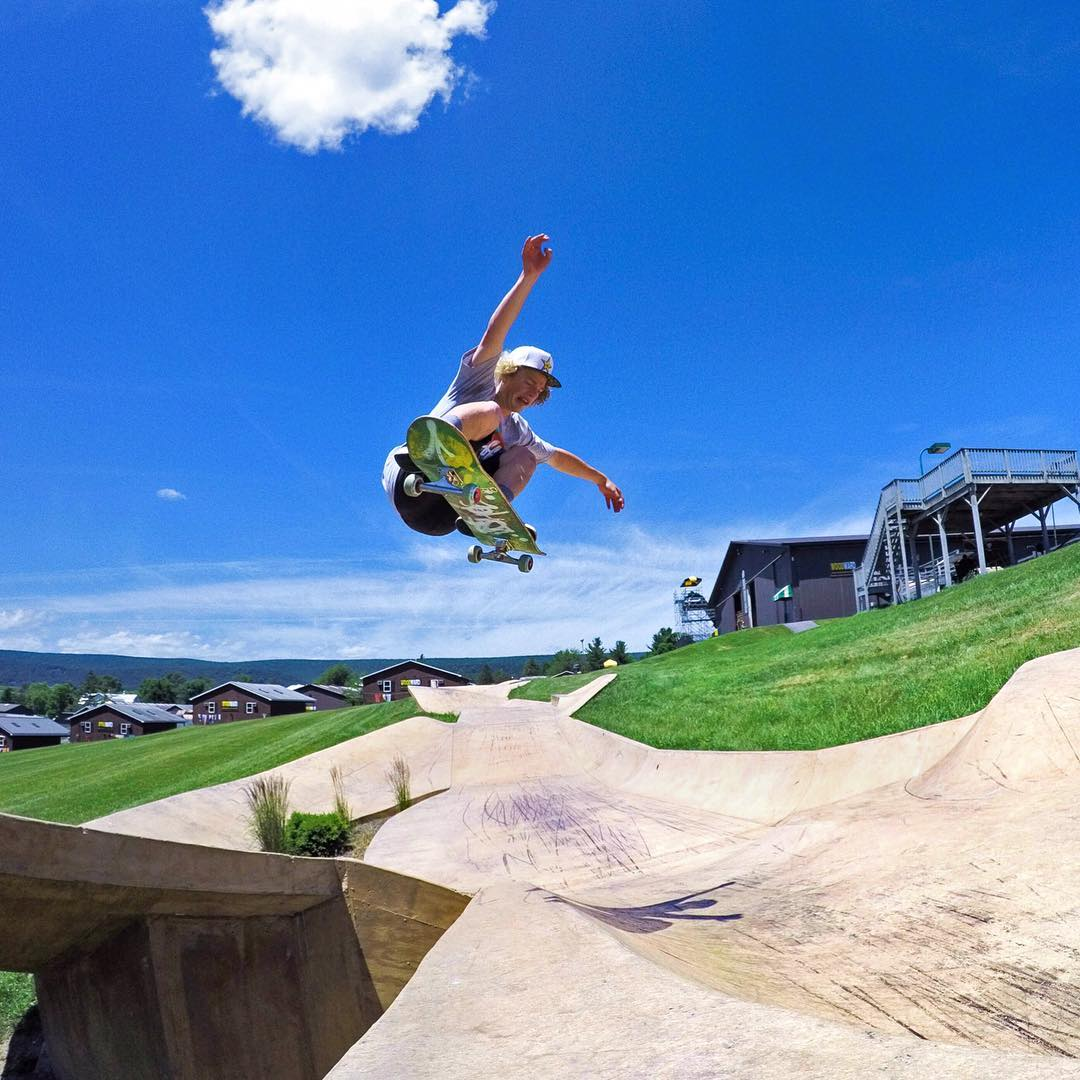 @brandonjdavis ripping through Camp Woodward on Go Skateboarding Day! GoPro HERO4 | GoPole Base @themayhemprojects #gopro #gopole #gopolebase #goskateboardingday