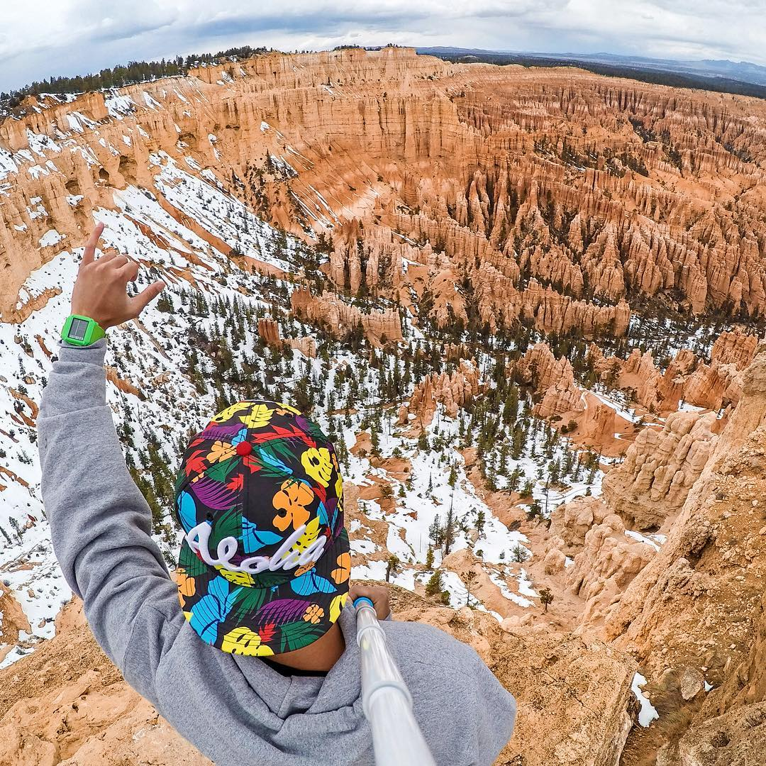 Aloha from GoPole Ambassador @cheetono at Bryce Canyon National Park. Shot with GoPro HERO4 and GoPole Reach. #gopro #gopole #gopolereach #brycecanyon #hiking