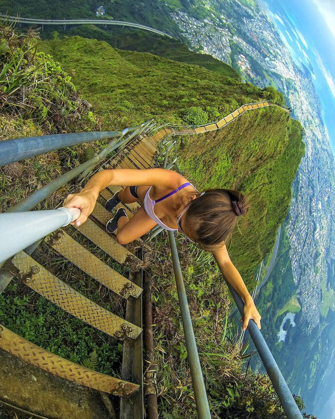 Location: Stairway to Heaven. Shot with GoPro HERO4 and GoPole Reach. Photo: @cole.adrian #gopro #hero4 #gopole #gopolereach #hawaii #hiking