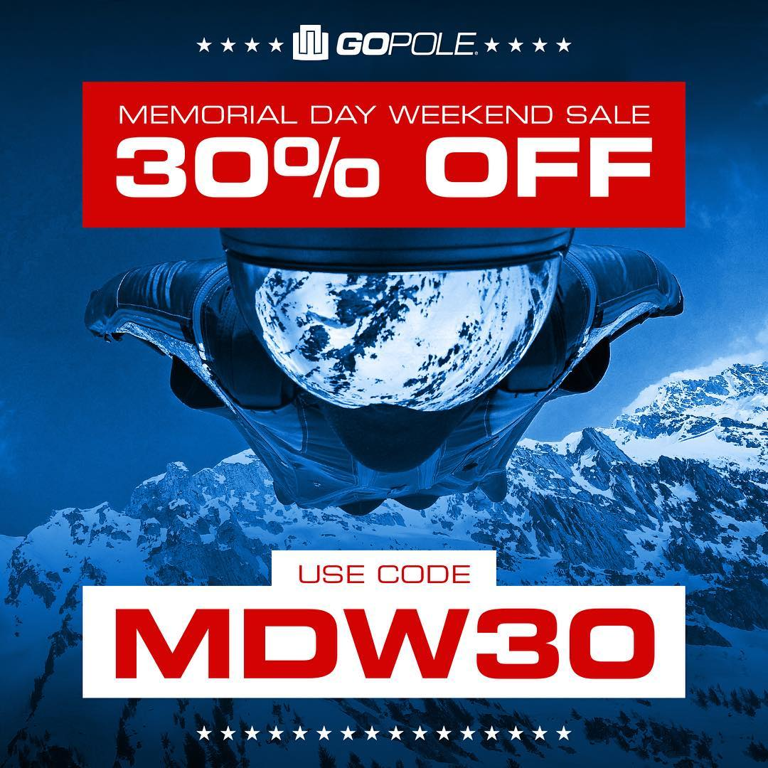 ★ Memorial Day Weekend Sale! ★ 30% off at GoPole.com. Use code MDW30 at checkout. #GoPole
