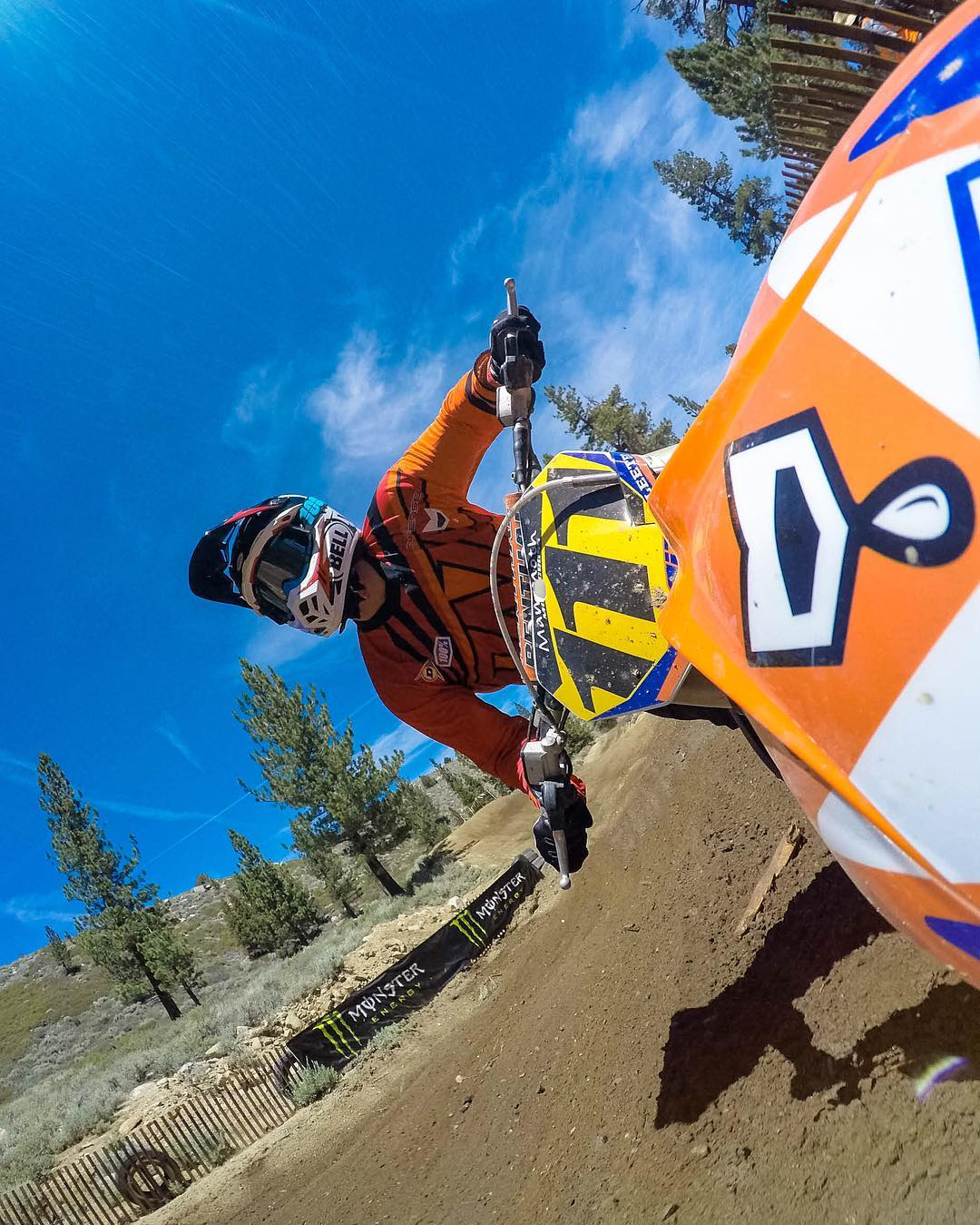@sleetdawg turning + burning at @monsterenergy #MammothMX #GoPro #GoProMoto @mammothmountain #Motocross  #