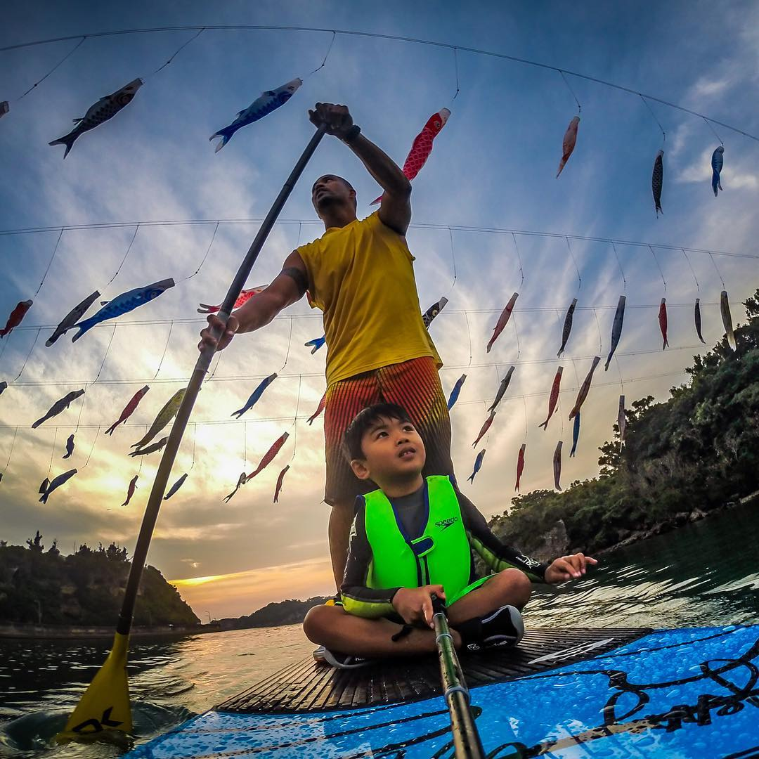 Happy Fathers Day! We're stoked to intro you to @joshlacar one of our favorite #GoPro dads. ——— Hi GoPro Family! Excited to share my adventures with my son Kahekili. This was shot during #goldenweek in #Okinawa #Japan 2014. Up above are #koinobori or...