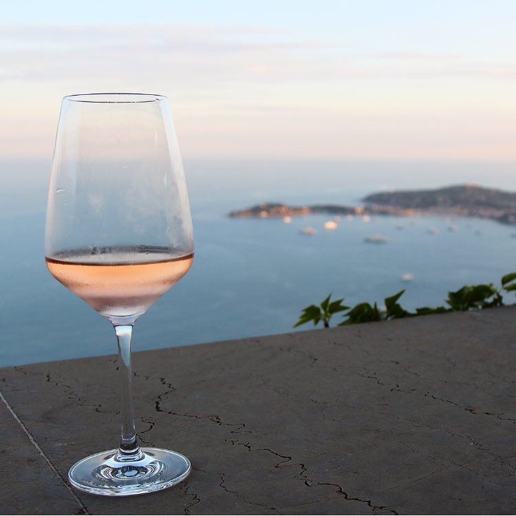 Rosé at the top of Eze-sur-Mer overlooking the French Riviera. Nice, Monaco, and Eze-sur-Mer are breathtaking and no picture can really do them justice. So instead I will relax here with my French rosé on the top of the world watching the yachts below...