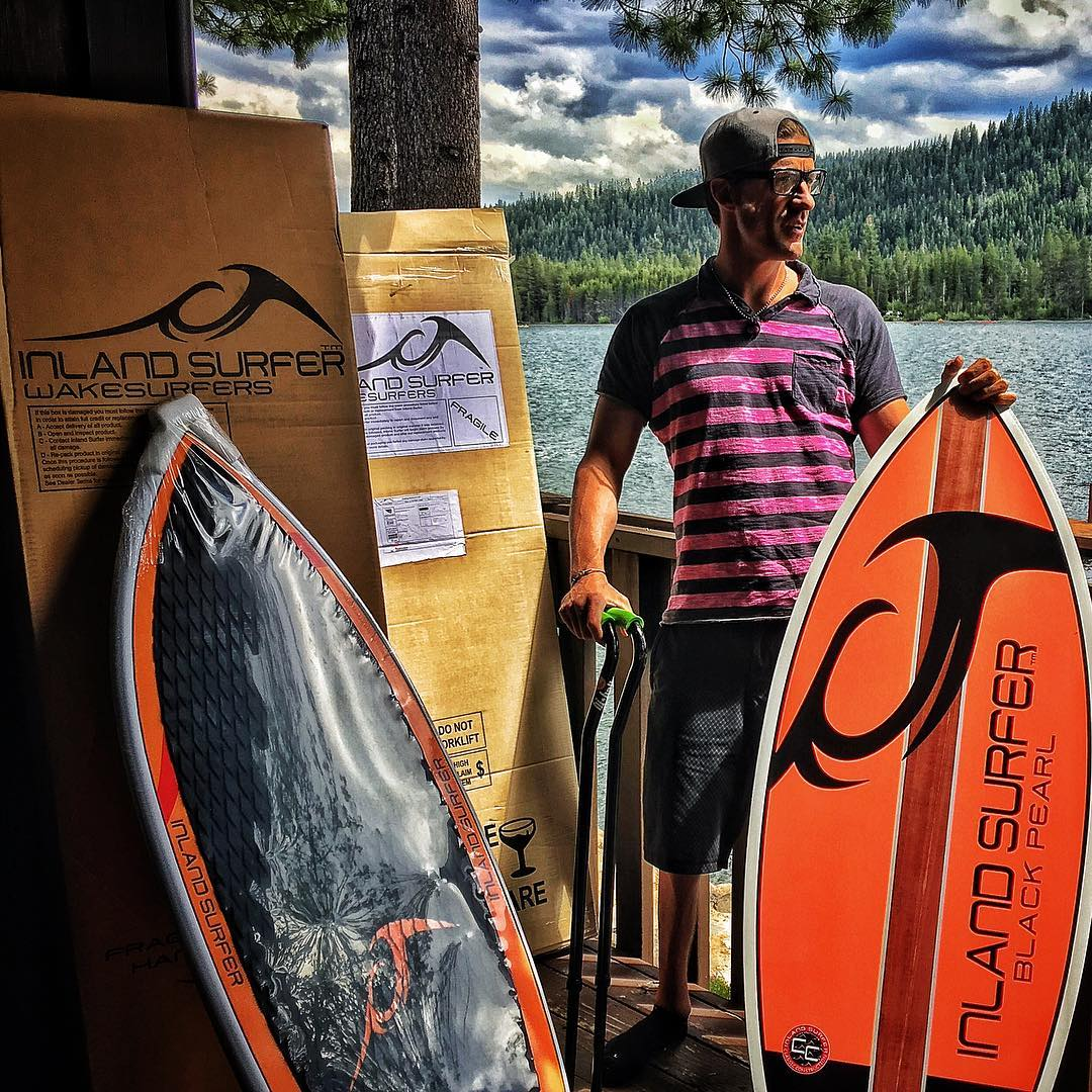 @inlandsurfer makes the best #WakeSurf boards on the planet, and it was all-time coming home from the past few weeks on the road to this set of magical boxes!! Summer is finally here, #WakeSurfing behind a @centurionboats is literally #SmilesForMiles,...