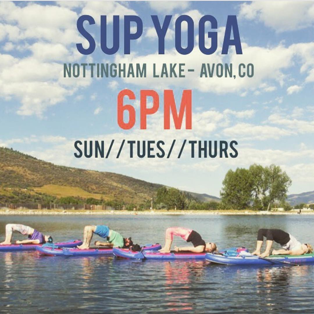 Tonight starts a summer of #supyoga! Check out classes with Hala yogi @yoga_snow_love!