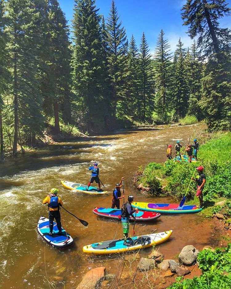 Team #halagear training for @mountaingamesvail on Gore Creek!