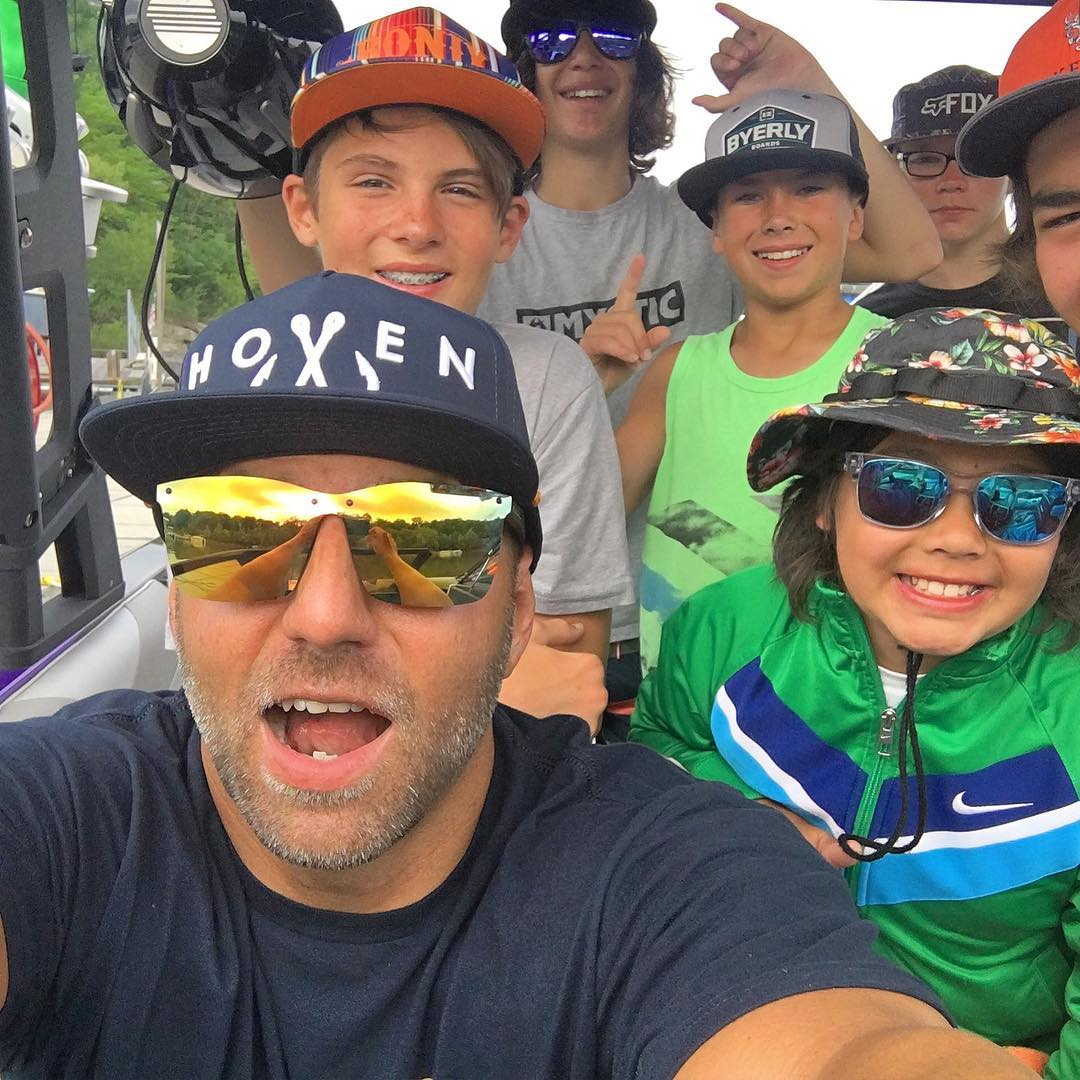 @chad_lowe is out in Kentucky this week coaching the next generation of wakeboarders.  Checkout Nick's Boat Dock in Kentucky for the whole line of @hovenvision glasses.  #hovenvision #wakeboarding #kentucky