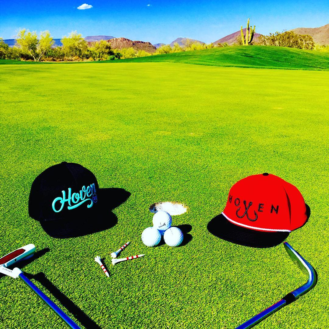 This weekend, no mulligans required. Script and hooks hats fully restocked for the summer! #hovenvision #alwayssunblocking #neverfunblocking #justbusylivin #golf #gimmethedriver #nolayups