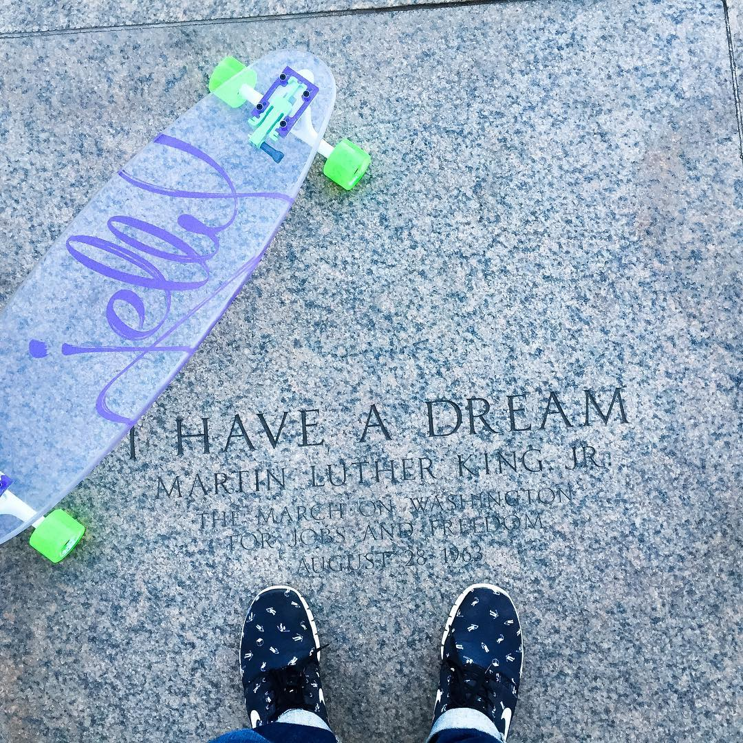 We stand as one.. #jellyskateboards #jellytour #Washingtondc #martinlutherkingjr #fromwhereistand