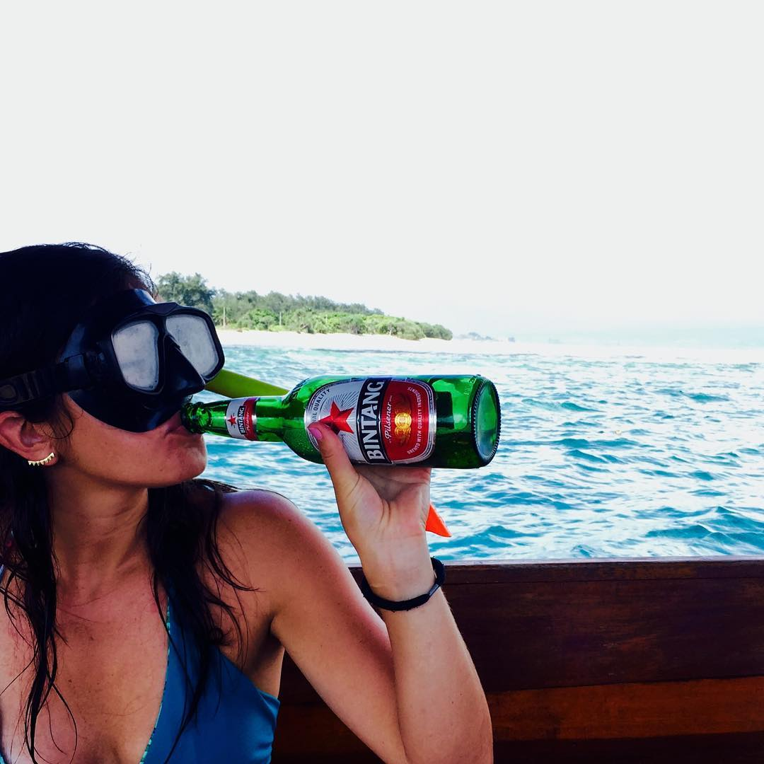 Snorkeling in the crystal clear blue Indian Ocean, drinking ice cold Bintang beers with my beautiful, newly appointed wife... don't make me come back!!!