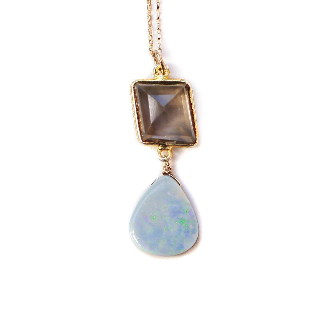 Opal and Smokey Quartz One of a kinds! I think there are still a few left up in the shop but they are going quick!  #opals #boulderopal #smokeyquartz #gypsy #diamonds #gemstones #gemlove #stars #juliaszendrei #tgif #marin #marinstyle #millvalley...