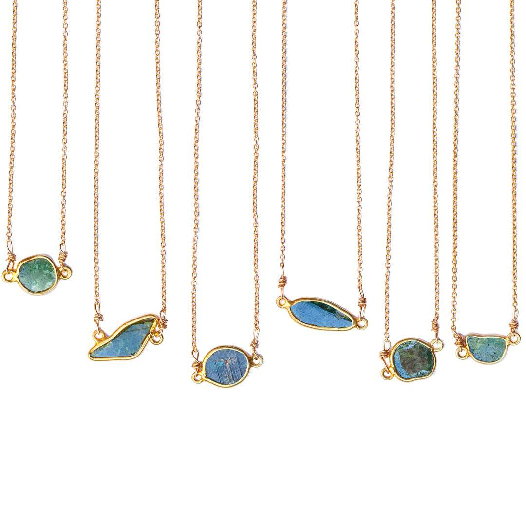 The most adorable new additions to the shop. Diamond Slice Necklaces, for those looking for a stylish every day piece of sustainable gemstone jewelry.  #diamonds #bluediamond #weddingstyle #somethingblue #juliaszendrei #diamondslice #fall #fw17