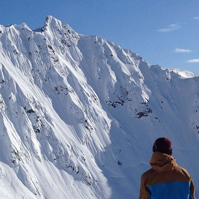 @eanwood sneak peaks some lines in AK. You get a sneak peak of next years Beast Jacket. Win Win!!!
