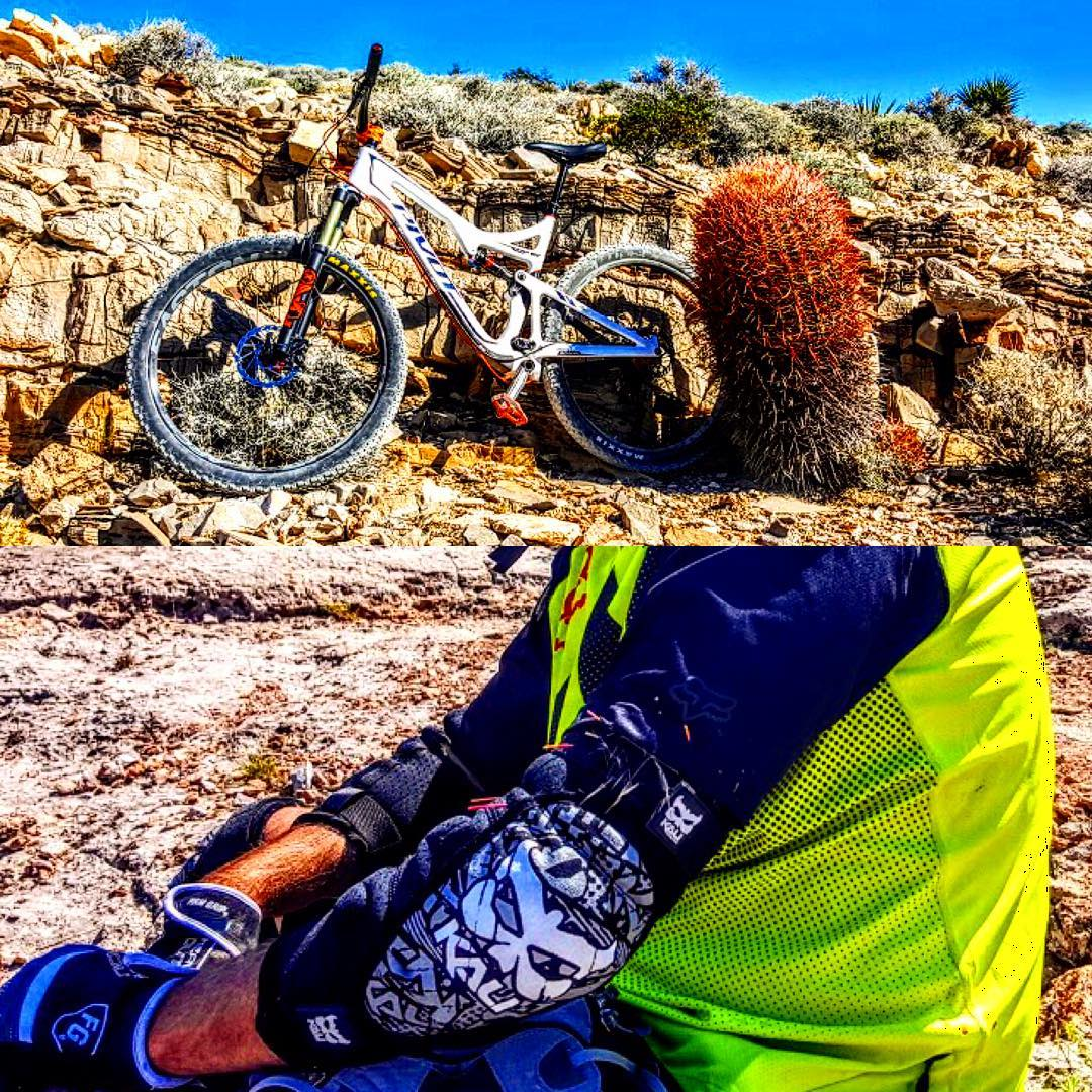 This cactus picked a fight with Steve Boelter on his ride. Luckily his Vedas took on the spines for him. Glad you're OK bud, thanks for sharing