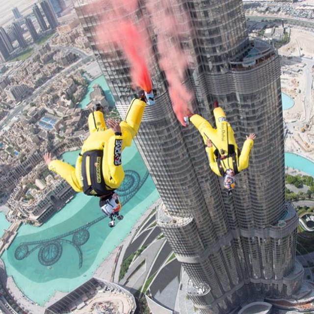 Dive in. @skydive_dubai #BurjKhalifaJump