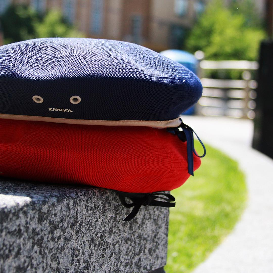 """The Monty is a traditional military beret constructed with Tropic fabric and features a faux leather band with metal eyelets. Worn by Field Marshal """"Monty"""" Montgomery as he commanded his troops in World War II, the Tropic beret has made the transition..."""