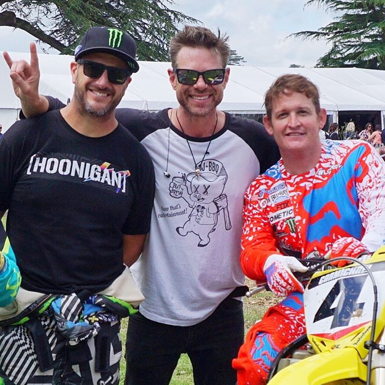 Ran into two good friends today here at #GoodwoodFOS: my buddy Christian Stevenson (@djbbq) and the G.O.A.T. himself, Ricky Carmichael (@RickyCarmichael). So rad that this festival lets me drive my awesome racecars, see other amazing cars AND catch up...