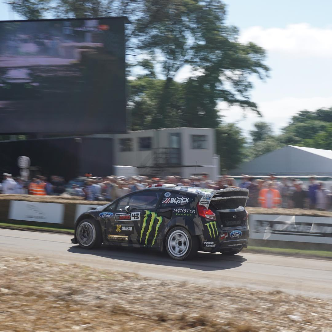 England! If you're around, make sure to come by and see me at the Goodwood Festival of Speed this weekend. I'll be here all weekend with @FordPerformance and @MonsterEnergy doing two runs a day in my Ford Fiesta ST RX43 (I'm in Batch 2) and signing...