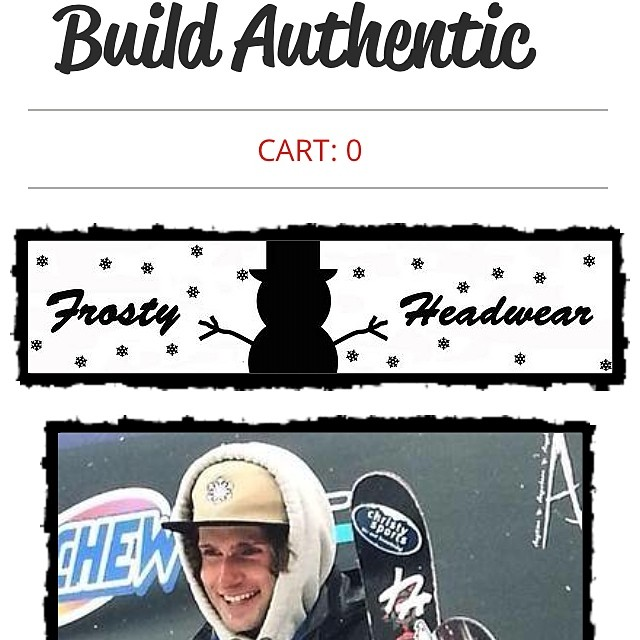 Check out my @BuildAuthentic shop on www.buildauthentic.com or through the link in my bio! #frostyheadwear #exclusive #marketplace