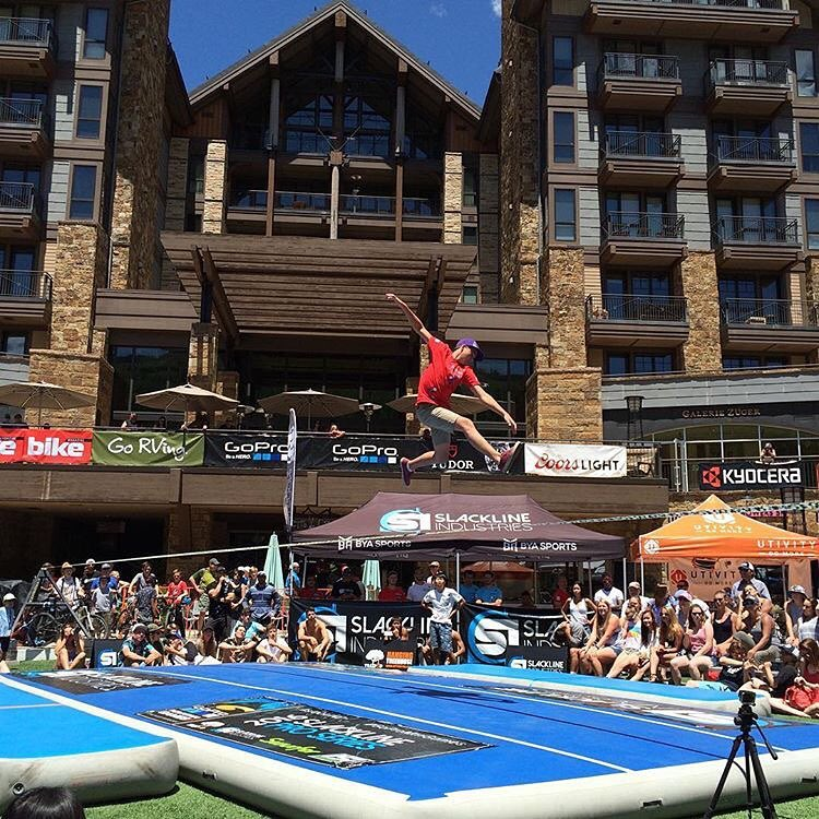 Congrats to all our athletes who competed this week at the @gopro @mountaingamesvail !  Here is @davis_hermes slaying it on the slackline. #kinddesign #gopro #gopromtngames #vail #colorado #liveyourdream - photo credit @amyhermes